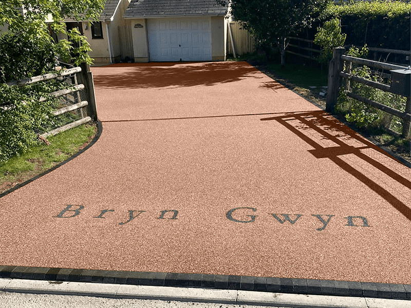 Rosso Luna Bespoke Resin Driveway