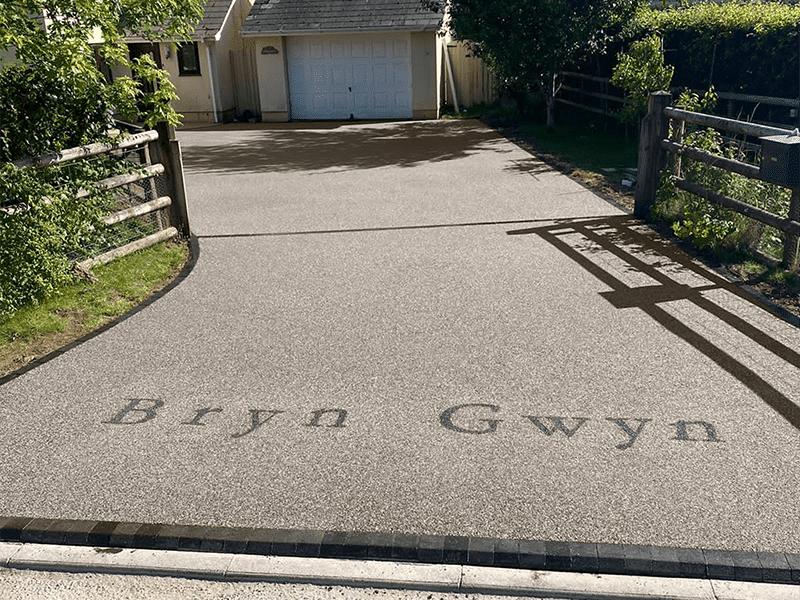 sweet pea resin driveway