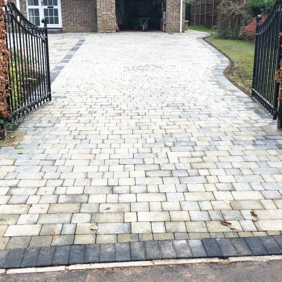 Block paving in Abergavenny